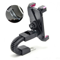 Wholesale Cheap Motorcycle Stands - 2017 Cheap Universal Motorcycle Motorbike Car Mount Holder Phone Clip Stand Bracket for Cell Phone GPS