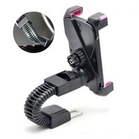 Wholesale cell phone chargers for motorcycles resale online - Universal Motorcycle Motorbike Car Mount Holder Phone Stand Rearview Mirror Mounting Bracket for Cell Phone GPS