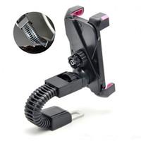 spiegel gps mp3 großhandel-Universal Motorrad Motorrad Autohalterung Telefon Ständer Rückspiegel Halterung für Handy GPS