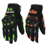 guantes de moto verdes al por mayor-Al por mayor-Moda Nueva completa Finger Guantes de moto Motocross Luvas Guantes Verde naranja Moto Guantes de protección Guantes para hombres Envío gratis