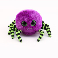 Ty Beanie Boos Original Big Eyes Peluche Toy Doll Brithday 10 - 15cm Purple Spider TY Baby For Kids Regali