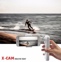 X-Cam Sight2 Self Selfe Sticks Handheld Gimbal Estabilizador de 2 ejes Control de Brushless Bluetooth para iPhone 6s Plus Samsung Huawei
