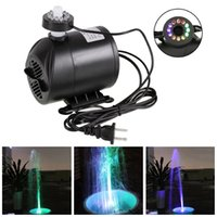 Wholesale Drop Shipping Fishing - Drop shipping 270GPH Water Submersible Pump with 12 Color LED Light for Aquarium Hydroponics Fish Tank US EU Plug