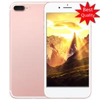 Wholesale New Smartphone Unlocked - New goophone i7 i7 Plus smartphone 5.5 inch Quad core 512MB RAM 4GB ROM Unlocked 2G wcdma show 4G LTE Cell phones
