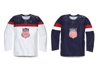 Wholesale Youth Olympic Hockey Jersey - 2016 New Customized Youth 2014 Sochi Olympic USA Team Jersey Any Name Any Number Red Youth Ice Hockey Customs Jerseys all stitched