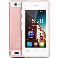 Wholesale Thin Dual Sim Phones - New free shipping 2.4 inch Ultra-thin Pocket Card phones Mini 3G Smartphone 2.4 Inch Android 4.4 MTK6572 Dual Core 1.2Ghz WIFI