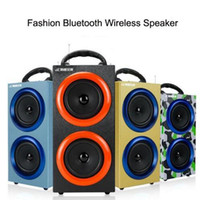 Wholesale Speaker Portable Fashion - Portable Wireless Bluetooth Speakers Outdoor Sports Subwoofers Handsfree with Mic Support TF Card FM Radio Fashion Luxury Loud Speakers