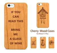 For Samsung orange tree wood - Cherry Wooden Cases For iPhone Plus Wood Carved Christmas Tree For iphone Back Cover Samsung Galaxy S8 Plus S7 Edge DHL