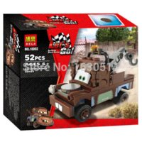 Wholesale Tow Mater Toys - HOT sale classic toys Cars Series Friendly TOW MATER DIY Building blocks assembly Toys, the Best Gift