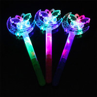 Kids LED Light Sticks Frozen Princess Magic Cartoon Moon Star Party Supplies Mix Cor presente de Natal para crianças Novo