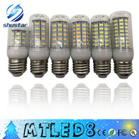 Wholesale Led E27 Chandelier - IN stock SMD 5730 E27 E14 G9 GU10 LED lamp 7W 12W 15W 18W 220V 110V 360 angle 5730 Ultra Bright LED Corn Bulb light Chandelier lamps