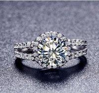 ingrosso vendita di anello di diamanti placcato oro-Nuovo stile di vendita calda oro placcato 2 anelli di fidanzamento fidanzato simulato diamante di carati 8mm anello per le donne spedizione gratuita