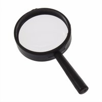 Wholesale 5x Hand Held Magnifying Glass - Wholesale-2pcs Reading 5X Magnifier 25mm Glass handheld Magnifier Handy Useful Hand Held Magnifying Acrylic Reading Magnifie Travel Kits