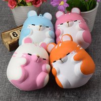 Barato Correia Para Venda-Hot Sell Hamster Cute Squishy Kawaii Simulation Brinquedos Lentos Rising Toy Perfumado Squeeze suave Kids Toy Phone Charm Straps Gift Free wholesale