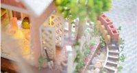 Wholesale Glass Garden Buildings - Funny Pandora Magic Garden Glass Ball House,Cute Handmade Wooden DIY House Model Toys for Kid Lovers New Year Gift