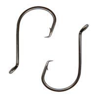 Wholesale Offset Size - 100pcs 7384 High Carbon Steel Fishing Hooks Black Offset Sport Circle Bait Fishing Hook Size 1-8 0