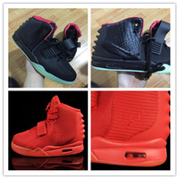 Wholesale Kanye West Ii - Drop shipping 2017 black kanye west Y II 2 sneaker skateboarding althetic shoes Red October Trainers shoes Basketball shoes size 40-46