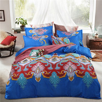 Wholesale Comforters King Size Wholesale - 3D Bedding Sets Bohemian style Duvets Set Bedroom Queen Size Bed in A Bag Sheets Duvet Cover Bedsheet Home Texiles