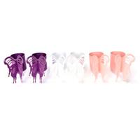 ingrosso favorisce l'anello di tovagliolo-Wholesale- 50Pcs 3 colori Farfalla Tovaglioli di carta Anelli Taglierine Tovaglioli Decorazione da tavola Bomboniere di carta Decorazioni di carta Carte tagliate a laser