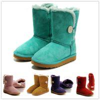 Wholesale Nubuck Cowhide Leather Shoes - Hot Sale Australian Women Snow Boost Women Snow Boots 100% Genuine Cowhide Leather Ankle Boots Warm Winter Boots Woman Special color Shoe