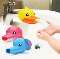 Wholesale mini water taps - 2017 Kids Hand Washing Aid Cartoon Elephant Dolphin Duck Water Channel Tap Extension Device for Baby to Funny Wash Free Shipping