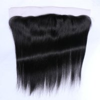 Wholesale Top Quality Brazilian Remy - Top Quality Brazilian Malaysian Peruvian Indian Virgin Remy Human Cuticle 13*4 Lace Frontal Straight Hair Free Shipping