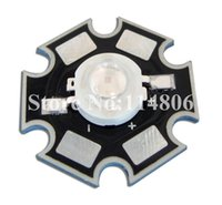 Wholesale 3w Uv - Wholesale- 5pcs 3W 45mil Chip UV Ultraviolet 375nm~377.5nm LED Bead Light Lamp With 20mm Star Base