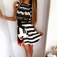 Wholesale Rayon Tank Top L - 2017 New Women's Fashion Mouse Dresses Micky Summer Dresses For Women Mickey Casual Slim Fit Women's Tank Top Dress