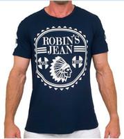 Wholesale Mens Jeans Shirt - 2017 New Robin T-shirt Mens robin jeans shirts Man Tshirt Robins men bottoming robins shirt t shirt tops plus size 3XL