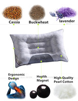 Wholesale Buckwheat Pillows - Brand New 40 x70cm Lavender Buckwheat Pillow Cervical Magnetic Therapy Health Care Pillow Home Textiles Bedding Pillow Neck Care