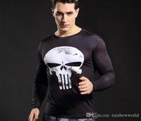 Wholesale Superman Lycra Tops - Batman VS Superman T Shirt Tee 3D Printed T-shirts Men Short Raglan sleeve Fitness Cosplay Costume Slim Fit Compression Top Male
