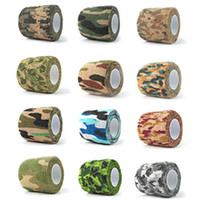 Outdoor Camo Tapes paintball gun camo - Camo Elastic Stealth Tape Hunting Military Camouflage Tape Airsoft Paintball Gun Rifle Shooting Stretch Bandage Camo Tapes