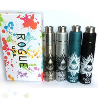 Wholesale Mech Mod Vaporizer Kit - Vaporizer Rogue Mechanical Mod Kit Rogue Rebuildable Dripping Tank 2 Posts Airflow Control fit 18650 Battery Mech Mod Kits DHL Free