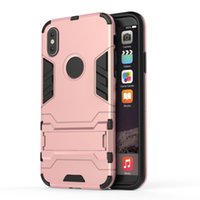 Armor Hybrid Case para Iphone X Iron man Kickstand Shockproof Hard Plastic + TPU Ironman Skin Holder Defender Gel Soft Cover