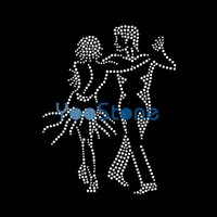 En venta Alta calidad Dancer Rhinestone Iron On Transfers Hot Fix Motif Wholesale