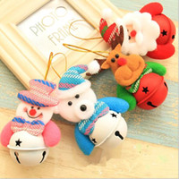 Wholesale Doll Socks Wholesale - Wholesale-Christmas Pendant decorations Christmas tree bell ornaments Santa Claus bell snowman doll Christmas bell Decoration supplies
