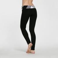 Wholesale White Yoga Outfits - XXS-XL Women Sexy Brand Yoga Sport Gym Leggings Capris Pants Gear Running Pants Leggings Outfits dropshipping ok