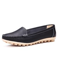Wholesale Hard Drive Real - New Women Real Leather Shoes Mother Loafers Soft Leisure Flats Female Driving Casual Footwear Size 35-40 In 5 Colors