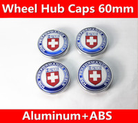 1 set / 60mm Refit HRE VW KIA moderno Subaru Peugeot logo Decal wheel center hub caps adesivi emblema Car styling Spedizione gratuita
