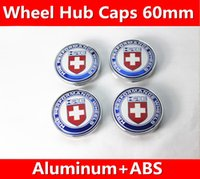 Wholesale Car Emblems Subaru - 1set 60mm Refit HRE VW KIA modern Subaru Peugeot logo Decal wheel center hub caps emblem stickers Car styling Free shipping