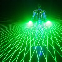 Wholesale Glove Dj - Free Shipping Green Red Laser Gloves With 4pcs 532nm 80mW Laser, LED Stage Gloves Luminous Gloves For DJ Club dance Party Show decoration