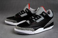 Billig Air Retro 3 Basketball Schuhe 3s schwarz Zement cemend 88 Cyber ​​Montag Fee rot okc pur uk wahr blau grau Wolle Sneaker Sprot US 7-13