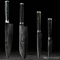 Wholesale D058 FINDKING Japanese Damascus knives set inch chef knife inch santoku inch utility quot paring knife