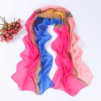 Wholesale Chiffon Flower Material - Wholesale-2016 newest design summer style brand scarves chiffon polyster material flower design silk scarf hijab YN-151