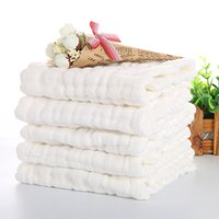 Wholesale Diaper Gauze - 1 Pack 46*17cm Baby Diaper Cotton Yarn Washable Cloths Infant Toddler Bandana Multi- layers Nursing Towel Strong Water Absorption Diaper