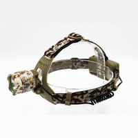 Wholesale Kc Led - KC Fire New 3500 Lumen XM-L T6 LED Camouflage Headlamp Headlight Head Torch camping Lamp Light HL0012