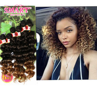 Wholesale synthetic kinky curly hair weave for sale - Group buy 6pcs synthetic braiding hair blonde extensions kinky curly loose wave ombre hair burgundy weave crochet hair extensions for black women