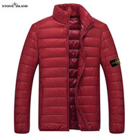 Wholesale 2017 New Mens Winter Coat Winter Stone Jacket Men Cotton Brand Clothing Jackets Parkas Mans ISLAND cotton Coats
