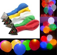 Wholesale High Quality Latex Balloons - High Quality 12inch Light Up balloons Flash Led Light Balloon for Wedding Christmas Bar Party Decoration
