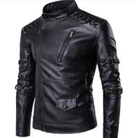 Wholesale Leather Stylish Winter Jacket - Fashion Men's Winter Leather Jackets Faux Jacket Korean Stylish Slim Fit Coats Men Moto Skull Suede Jacket For Men ,m-5xl ,pa2